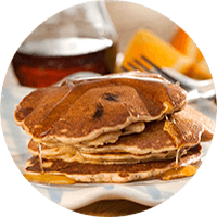 Nutty Banana-Chocolate Chip Pancakes / Panekuk Keping Cokelat Pisang Peanut Butter