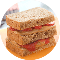 Double Strawberry Peanut Butter Club / Roti Dobel Stoberi Peanut Butter