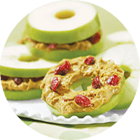 PB Apple Bites / Camilan Bagel Apel